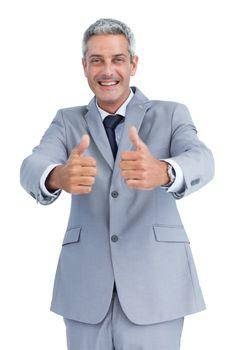 Positive handsome businessman