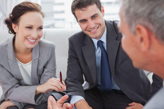 Partners having a meeting