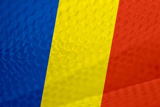 Romanian flag abstract