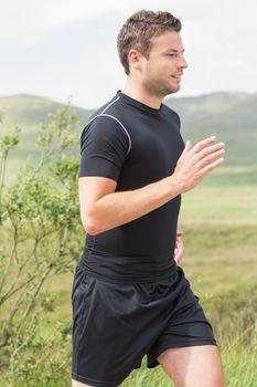 Athletic man on a jog
