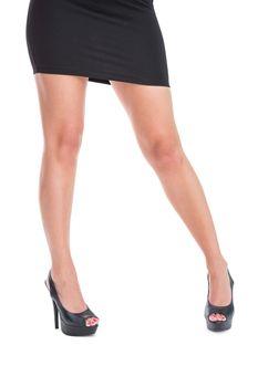 Woman in high heels standing