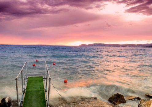 Sea  dusk
