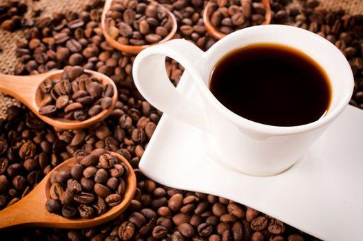 Dark instant coffee