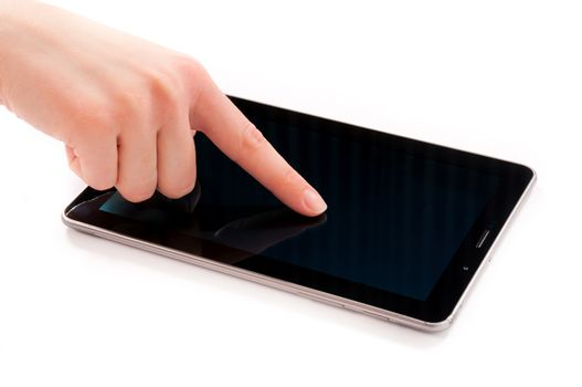 Touching the tablet