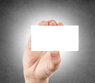 Blank calling card