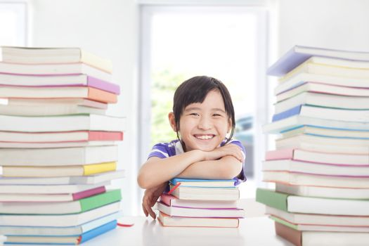 happy little enjoy studying in the classroom