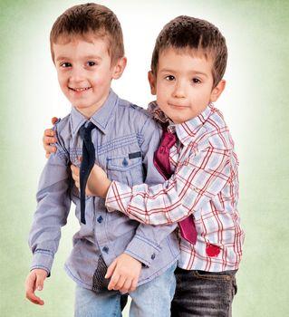 Brother hug