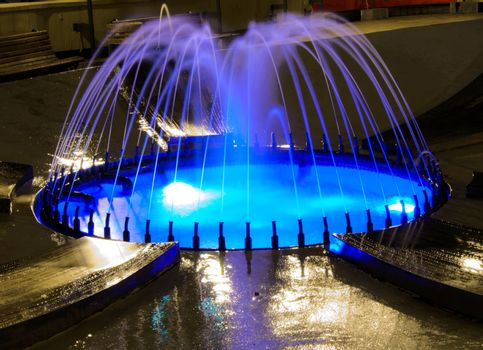 Shining fountain