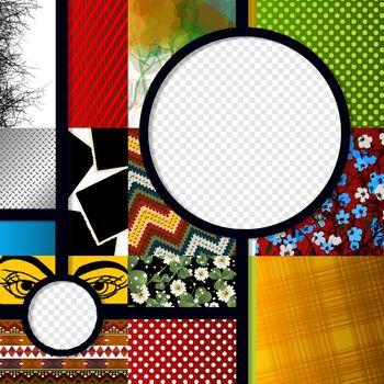 Scrapbook design graphic