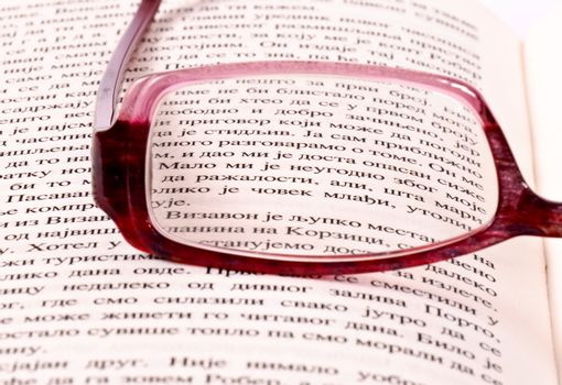Glasses and letters