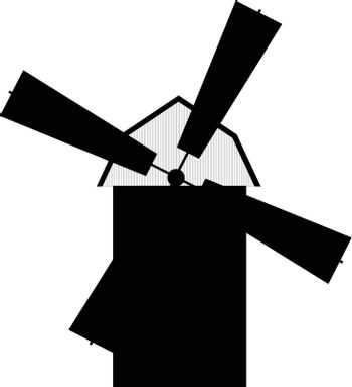 windmill silhouette (vector)