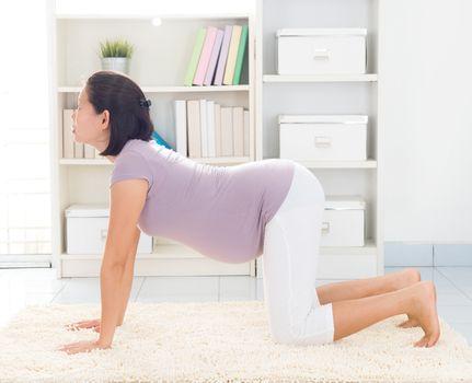 Prenatal yoga at home
