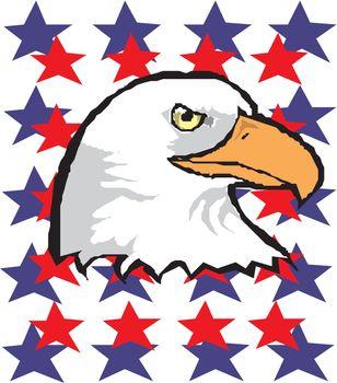 Patriotic American bald eagle