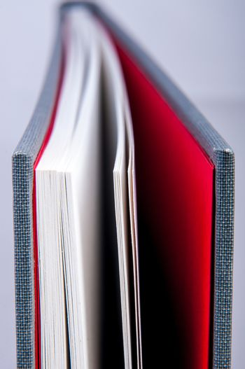 An image of book macro photography. Shallow depth of field.