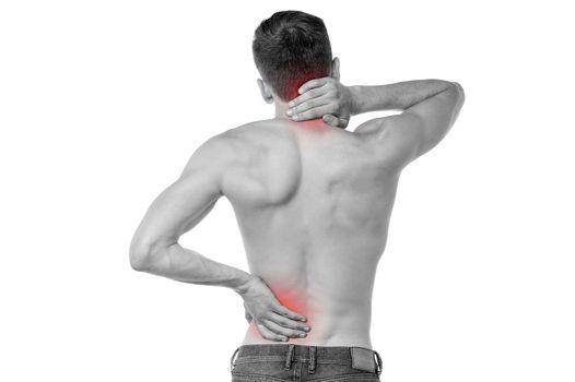 Sports injury pain towards back