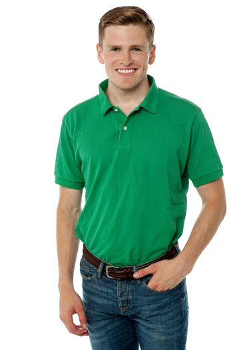 Handsome guy in trendy wear