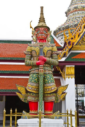 The door guardian of the Emerald Buddha temple.