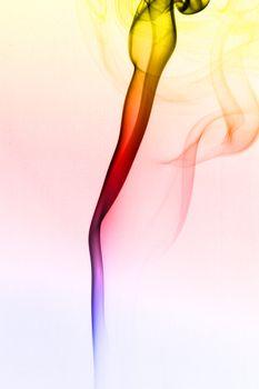 multicolored smoke
