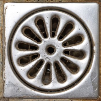 Old shower drain