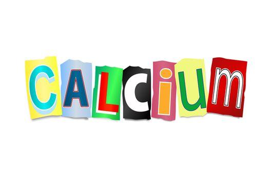 Calcium concept.