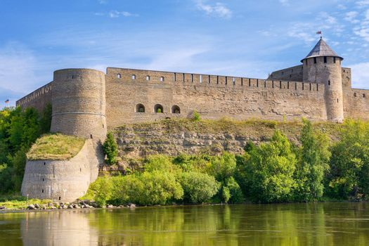 Fortress on the border of Russia and Estonia. Ivangorod, Russia
