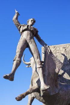 Bullfighter sculpture
