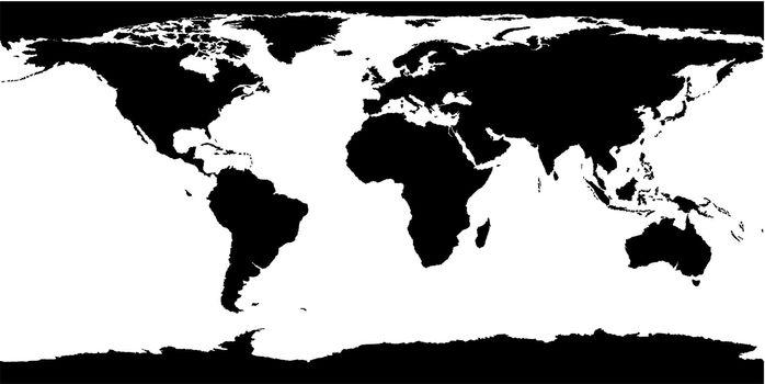World Map Texture - Black Illustration, Vector