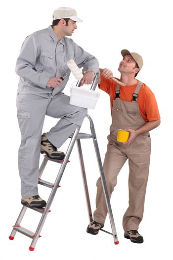 A team of painters