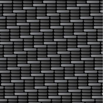 Illustration of a carbon fiber background texture in vector format with rounded edges.
