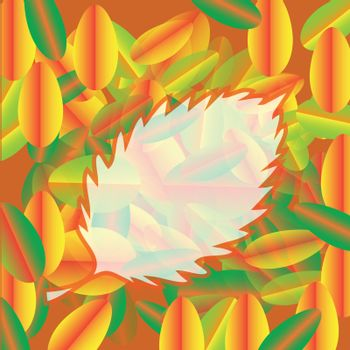 colorful illustration with abstract autumn background for your design