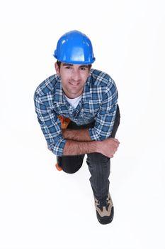 craftsman kneeling