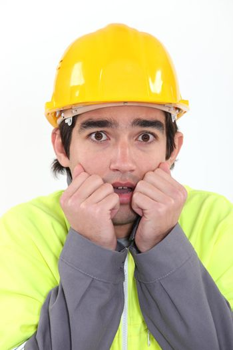 A frightened tradesman