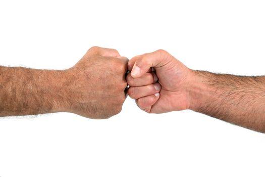 Fist against fist