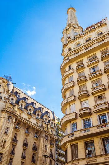 French style architecture in Recoleta neighborhood in Buenos Aires, Argentina