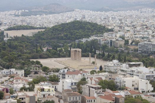 View on Athens from Acropolis hill