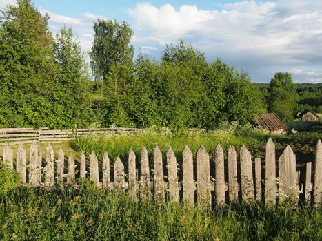 fence in the countryside