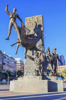Bullfighter sculpture in front of Bullfighting