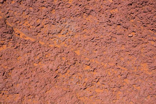 Arizona red stone detail with orange desert sand