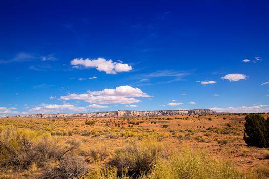 Arizona desert on US 89 in a sunny day