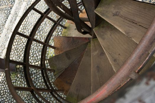 Old rusty staircase