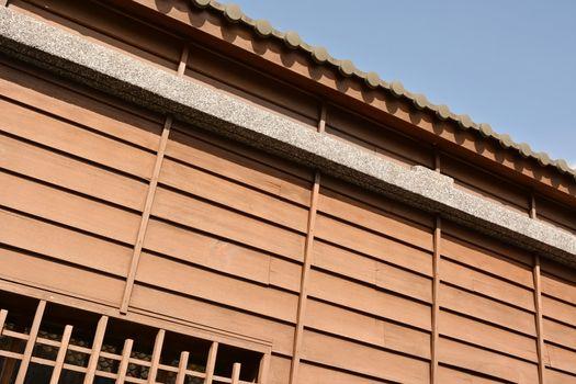 Part of wooden building