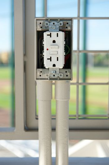 Newly Installed Electrical Outlet with GFCI