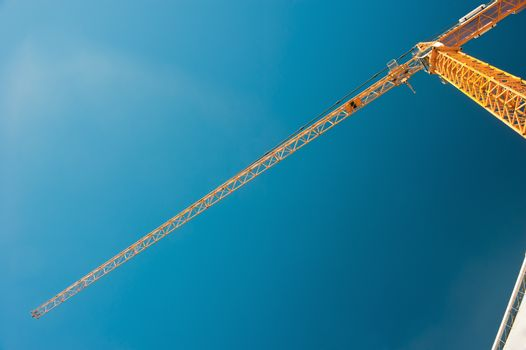 Tower crane with a jib boom type