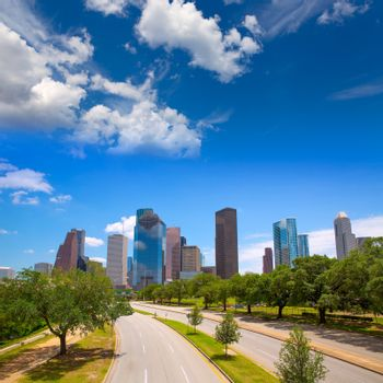 Houston Texas Skyline with modern skyscapers