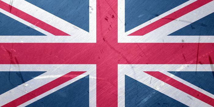 Grunge illustration of the flag of UK