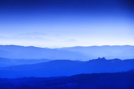 Tuscany Landscape at blue hour