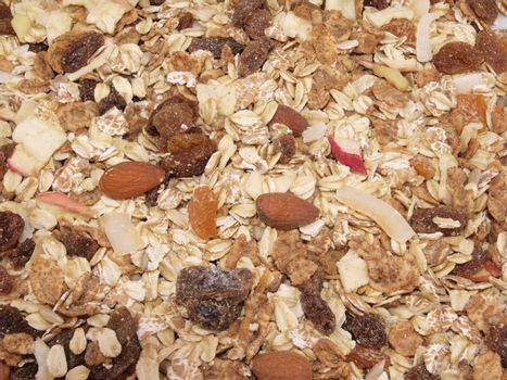 Close up of fresh organic Muesli