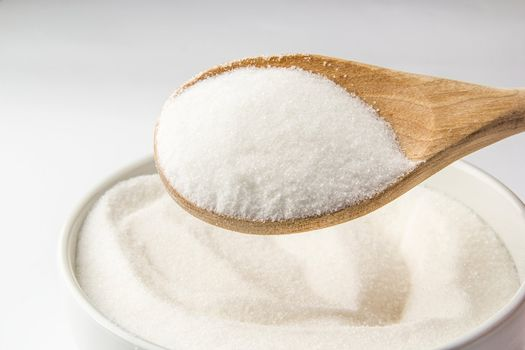 Bowl filled with sugar