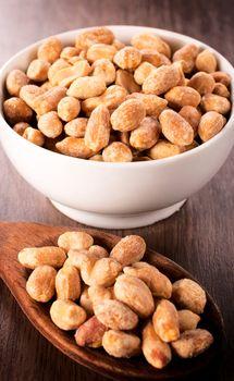 Peanuts in bowl