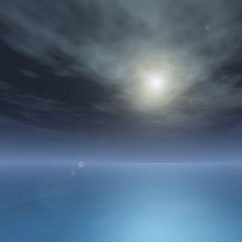 Silky ocean on Bright Star Night